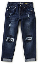 7 For All Mankind Big Girls 7-14 Josefina Destructed Cuffed Jeans