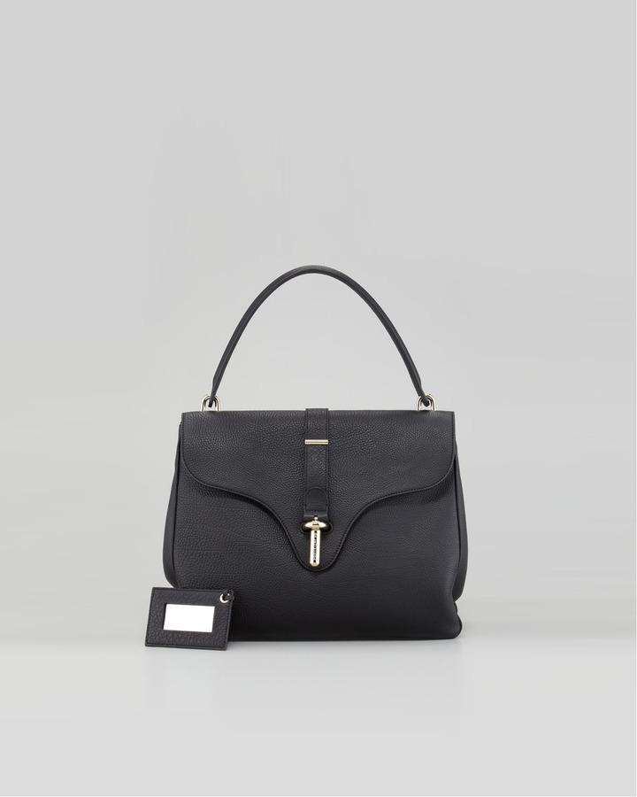 Balenciaga Tube-Clasp Square Bag, Black