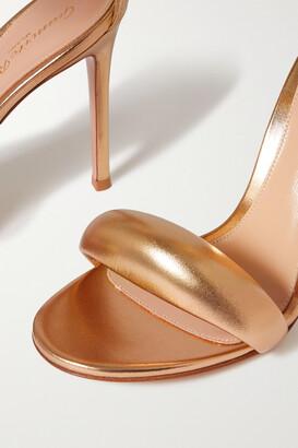 Gianvito Rossi Bijoux 105 Metallic Leather Sandals - Gold