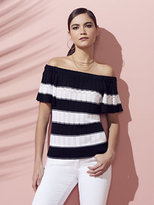 New York & Co. Open-Stitch Off-The-Shoulder Sweater