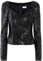 Saint Laurent Sequin-embellished top