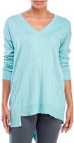 Vince Camuto V-Neck Asymmetrical Hem Sweater