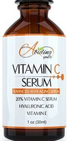 Abiding Youth Best Organic 20% Vitamin C Serum with Hyaluronic Acid - Top Facial Skin Care for Wrinkles, Fine Lines, Sun Damage, and Fades Age Spots - Natural Ingredients to Fight Anti Aging - 1oz