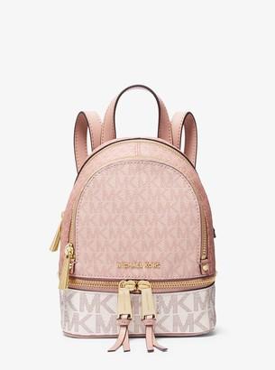 MICHAEL Michael Kors Rhea Mini Color-Block Logo Backpack