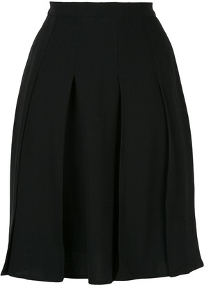 Chanel Pre Owned Pleated Long Skirt