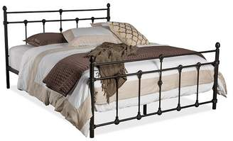 Baxton Studio Belinda Chic Iron Metal Platform Bed - Queen - Antique Dark Bronze