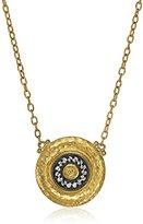 "Gurhan Moon Beam"" White Diamond Two-Tone Pendant Necklace, 17"""