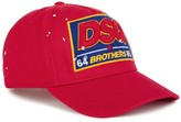 Dsquared2 Red Embroidered Cotton Twill Cap