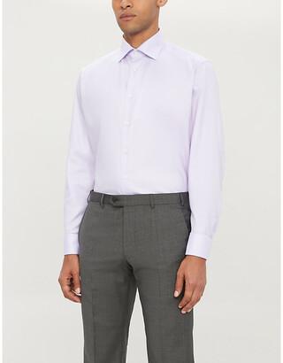Eton Herringbone slim-fit cotton shirt
