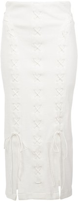 Kiki de Montparnasse lace-up midi skirt