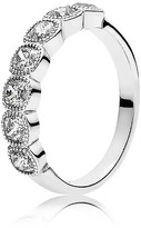 Pandora Ring - Sterling Silver & Cubic Zirconia Alluring Cushion