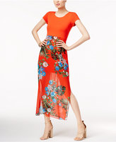 Vince Camuto Printed-Overlay Maxi Dress, A Macy's Exclusive