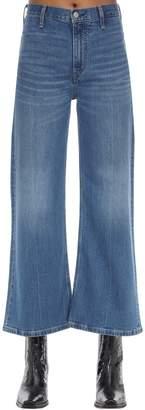 Calvin Klein Jeans Cropped Mid Rise Wide Leg Denim Jeans