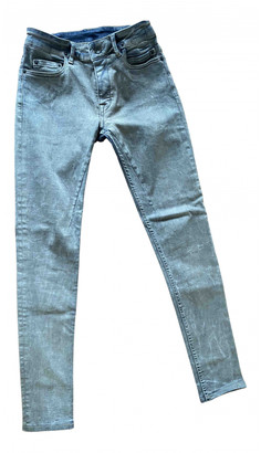 Rick Owens Grey Cotton - elasthane Jeans