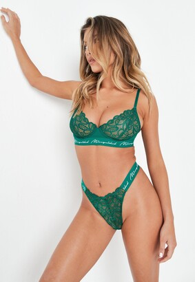 Missguided Emerald Lace Triangle Bra