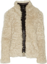 Helmut Lang Tigrado leather-trimmed shearling coat