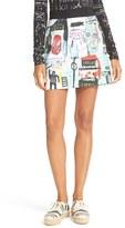 Alice + Olivia Women's Riley Print Miniskirt