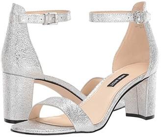 Nine West Pruce Block Heeled Sandal (Gold) Women's Shoes