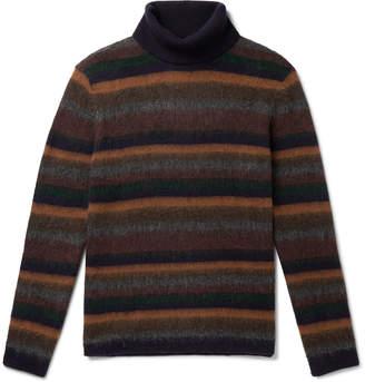 NN07 John Striped Brushed Wool-Blend Rollneck Sweater