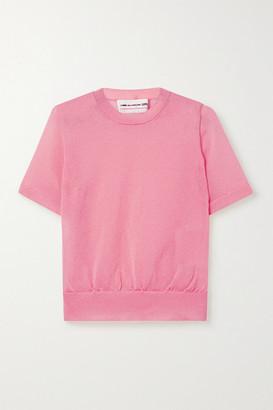 COMME DES GARÇONS GIRL Metallic Knitted Top - Pink