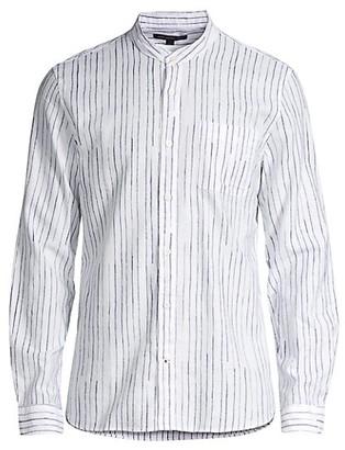 John Varvatos Star USA Regular-Fit Banded Collar Shirt