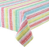 JCP HOME JCPenney HomeTM Zig Zag Indoor/Outdoor Water-Repellent Tablecloth