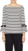 Marc Jacobs Women's Pom-Pom-Trimmed Striped Cotton Top