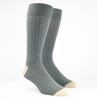 MUMU Weddings - Seaside Dot Silver Sage Dress Socks