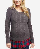 Motherhood Maternity Cable-Knit Sweater