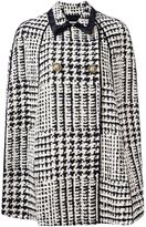 Fausto Puglisi houndstooth cape - women - Silk/Cotton/Linen/Flax/Virgin Wool - 42