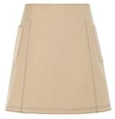 Wood Wood Sandra cotton and virgin wool-blend twill skirt