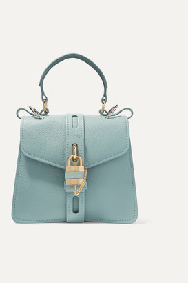 Chloé Aby Small Textured-leather Tote - Blue