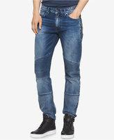 Calvin Klein Jeans Men's Slim-Fit Sunlit Blue Moto Jeans