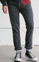 LA.EDIT Vintage Distressed Black Skinny Jeans