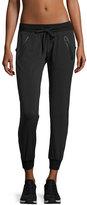 Blanc Noir Tech Zip-Pocket Jogger Pants, Black