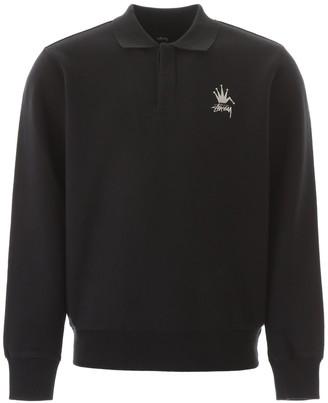 Stussy Crown Logo Polo Sweatshirt