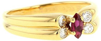 Van Cleef & Arpels 1980s Pre-Owned Yellow Gold, Ruby And Diamond Ring