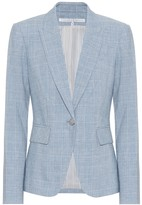 Veronica Beard Cutaway Dickey cotton and linen blazer