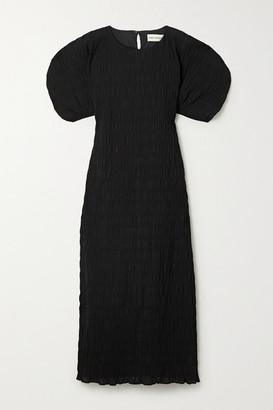 Mara Hoffman + Net Sustain Aranza Shirred Stretch-organic Cotton Midi Dress - Black