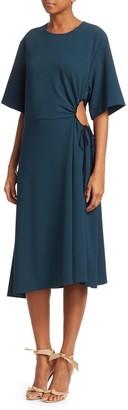 Chloé Crepe Short Sleeve Midi Dress