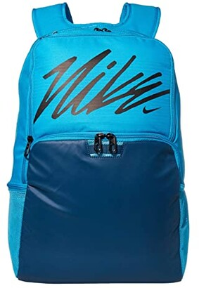Nike Brasilia XL Backpack - Graphics (Laser Blue/Valerian Blue/Black) Backpack Bags