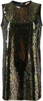 No.21 sequinned snakeskin-effect shift dress