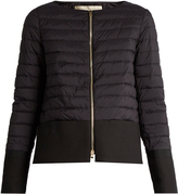 Herno Waterproof collarless quilted jacket