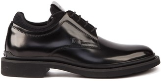Tod's Tods Black Leather Lace Up Oxford Shoes