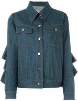 MM6 MAISON MARGIELA flounce denim jacket