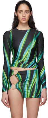 Louisa Ballou SSENSE Exclusive Black Surf Long Sleeve Bikini Top