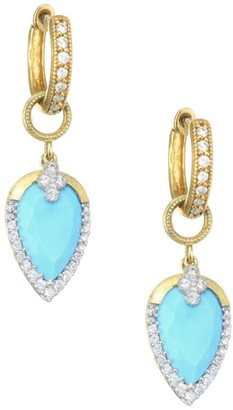 Jude Frances Diamond Pave, Turquoise & 18K Yellow Gold Earring Charms