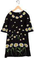 Dolce & Gabbana Girls' Daisy Print Midi Dress