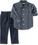 Kids Headquarters 2-Pc. Plaid Shirt & Jeans Set, Baby Boys