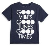 Chaser Toddler's, Little Boy's & Boy's Good Vibes, Good Tunes, Good Times Triblend Tee